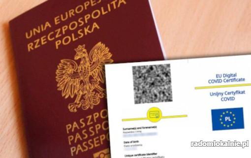 Zaświadczenie o szczepieniu Covid - Unijny Certyfikat Covid - Paszport UCC